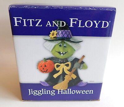 "Fitz & Floyd Jiggling Halloween Witch Figurine 4"" x 3"""