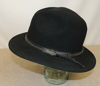 Men's PENDLETON - Black Wool Fedora Hat  - AB388-71010 - Size L Thames Hospice