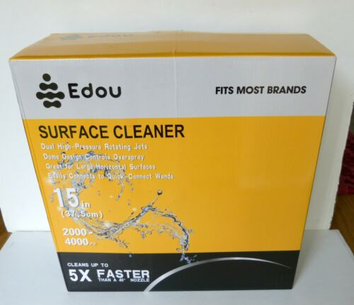 """EDOU 15"""" Pressure Washer Surface Cleaner Stainless Steel Housing 2000-4000 PSI"""