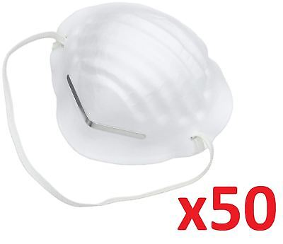 50 Comfort Flex Dust Mask Protective Respirator Safety Filter Disposable Basic