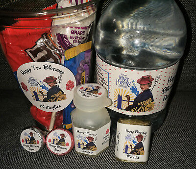 @PERSONALIZED MARY POPPINS RETURNS KISS/BUBBLE/NUGGET/WATER BOTTLE/FAVOR LABELS@ - Bubble Bottle