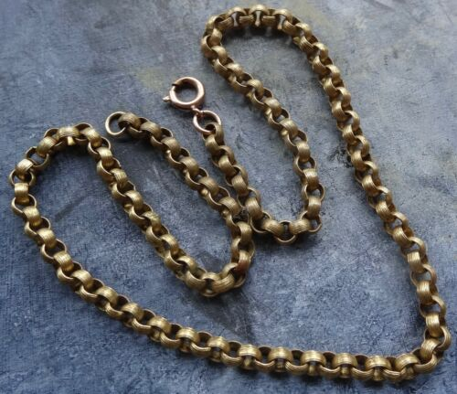 antique Georgian Victorian pinchbeck gold tone fancy chain necklace -R65