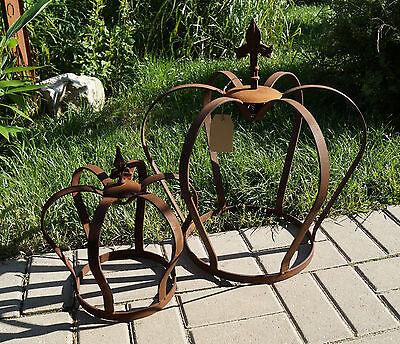 Edelrost Krone 2 Größen Deko Garten Terrasse Rost Metall Lilienspitze Pflanzen ()