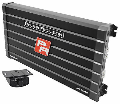 Power Acoustik Cb1 8000D 4000 Watt Rms Mono Amplifier Car Audio Class D Amp