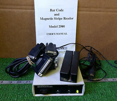 1 Used American Microsystems Mdl 2500 Microscanner Card Reader Make Offer