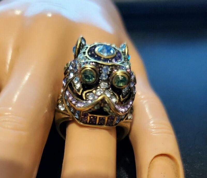 Heidi Daus Glittering Guardian Crystal Ring (Lt Blue/Sz 8)  Ret: $69.95