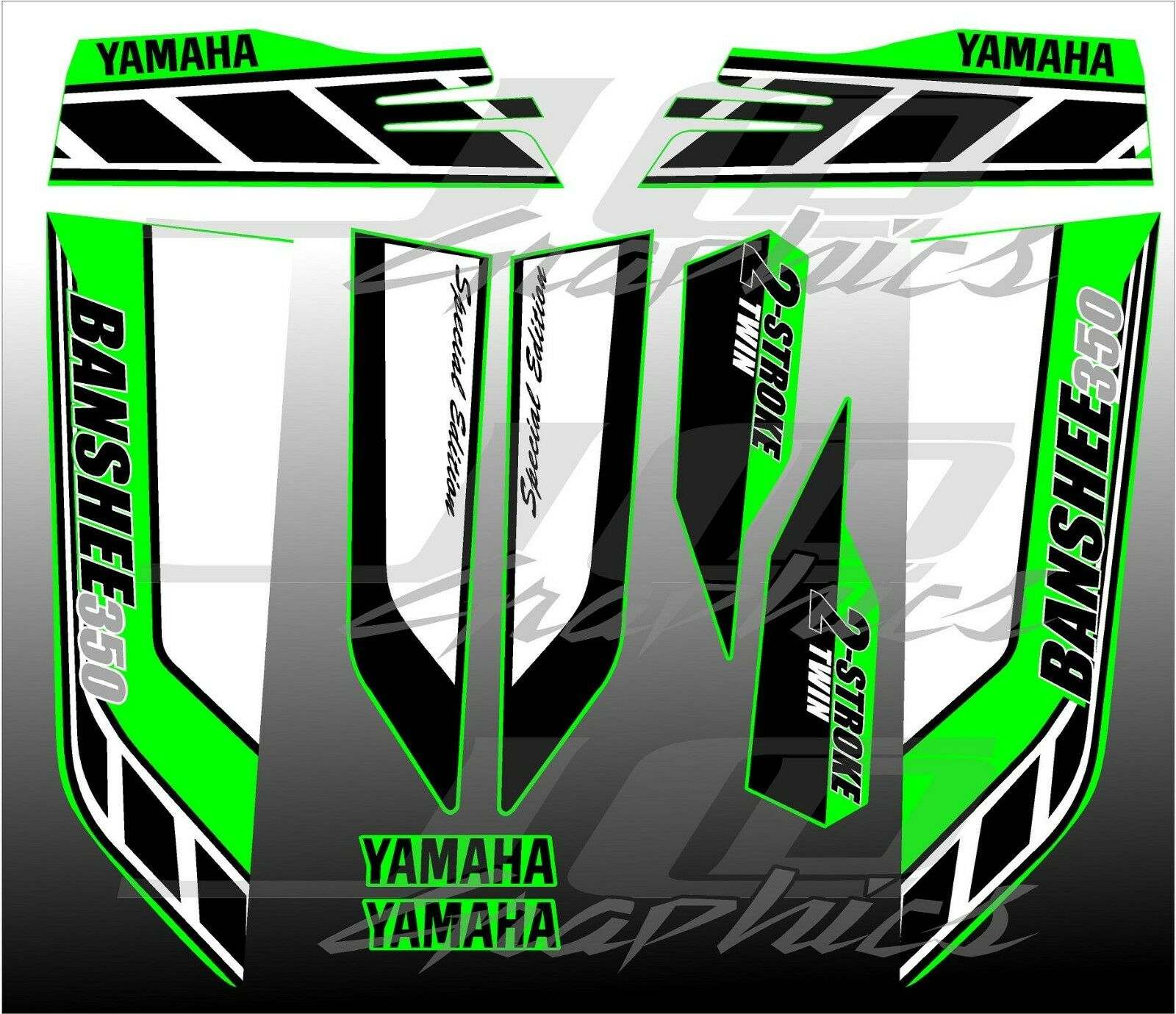 yamaha banshee full graphics kit special edition