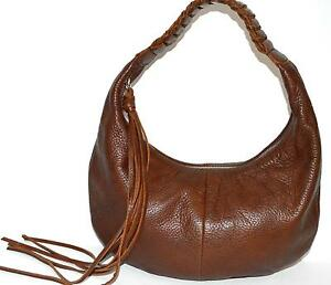 8ed6a1fc3e23 Fringed Leather Hobo Handbag