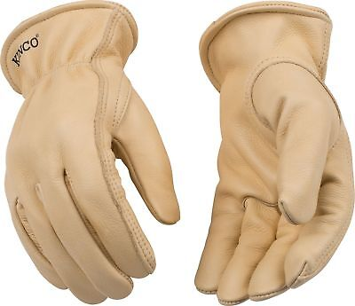 Kinco 98 Work Gloves Grain Cowhide Leather Unlined Mens Driver Farm Construction