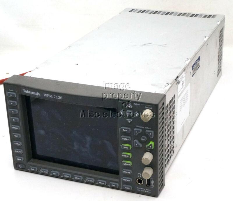 TEKTRONIX WFM-7120 MULTI FORMAT WAVEFORM MONITOR HD DDE PHY DAT SIM  LOT M
