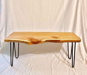 live edge table - cypress