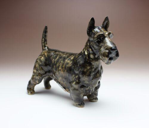 Brindle Scottish Terrier Scottie Porcelain Dog Figurine Japan New Reproduction