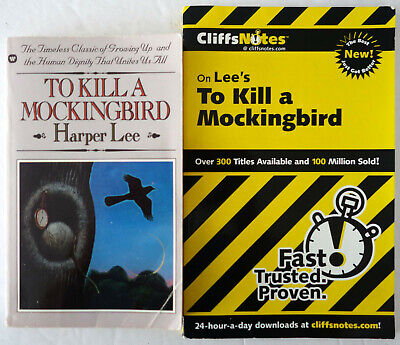 To Kill A Mockingbird by Harper Lee and Cliffs Notes Study Guide Lot 2