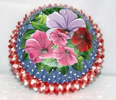 HAWAIIAN LUAU PARTY FLOWERS  BIRTHDAY CUPCAKE BAKERY BAKING CUPS 50 CT.](Hawaiian Cupcakes)