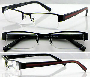 (L415)Metal frame Semi Rimless Reading Glasses+0.50+0.75+1.00+1.25+1.50+1.75+2