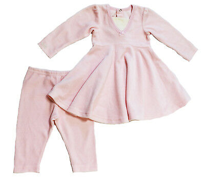 NWT Coccoli Baby Girl Newborn Velour Swing Dress and Pant Set in Pink ~ Size 24M for sale  Shipping to Canada