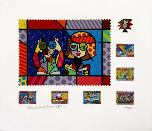 """Romero Britto """"educating The World"""" 2000 