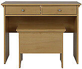 BRAND NEW OAK EFFECT DRESSING TABLE AND STOOL
