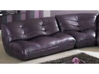 CSL Fraser 3 seater sofa 1x 2seater, 1x corner, purple leather,