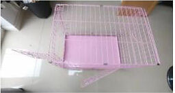 1 small pink dog crate good for chihuahuas