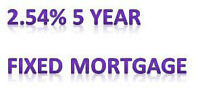 2.54% 5 year fixed rate mortgage