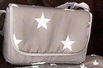 Billie fairies grey star changing bag