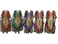 Ladies Kaftan Caftan Wholesale 5pcs Lot Kimono Sleeves Oversized Maxi Dress