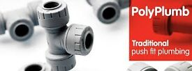 Hi i have over 500 (B.N) polypipe plastic pushfit fittings from 10,15,22,28mm