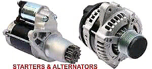STARTERS AND ALTERNATORS INSTALLED IN THE COMFORT OF YOUR HOME