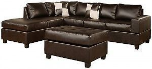 Deal Of the day Sectional with Ottoman Peterborough Peterborough Area image 1