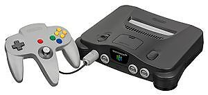 Nintendo 64 with 2 controllers