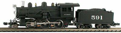 MODEL POWER 87611 N SCALE Atchison,Topeka & Santa Fe Steam 2-6-0 Mogul