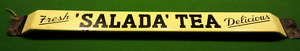 Salada Tea Push Bar enamel advertising sign 1950's