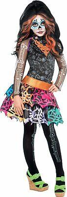 Skelita Calaveras Costumes (Skelita Calaveras Girl's Costume  BRAND NEW   Size 4-6   Inc: Wig, Dress,)