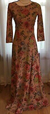Orange Creek Designer Floral Dress Pink Small Med Floor Length Maxi Los Angeles (Angels Floral Dress)