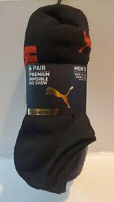 PUMA Sock No Show MENS  Socks, Shoe Size 6-12, ,6 Pairs