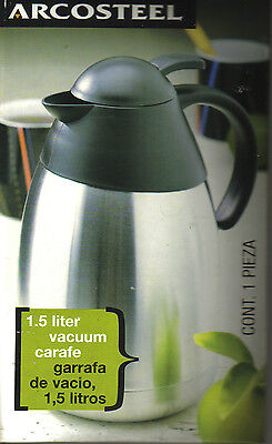 Arcosteel 1.5 Liter Carafe For Hot/cold Drinks - Stainless Steel - In Box