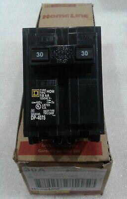 Hom230 Square D 30amp 2 Pole 120240 Vac Circuit Breaker New