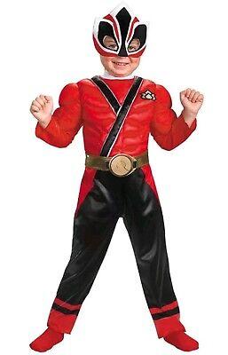 Red Power Rangers Samurai Dress Up Toddler Child Costume