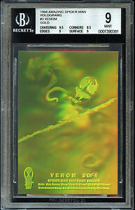 AMAZING SPIDER-MAN 1994 FLEER SKYBOX HOLOGRAM INSERT CARD 3 OF 4 VENOM BGS 9