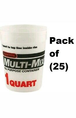 (25) Leaktite 02M3050 1 Quart Mix All Purpose Empty Paint Mixing Containers - Paint Containers