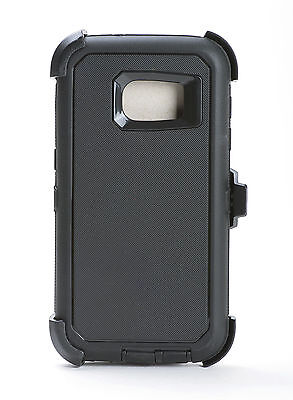 Samsung Galaxy S7 Hard Shell Case +Holster Belt Clip fit Otterbox Defender Black