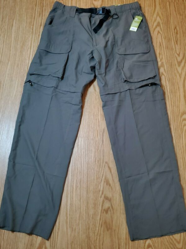 Boy Scouts Of America Convertible Switchbacks Uniform Pants Green Pockets XL New
