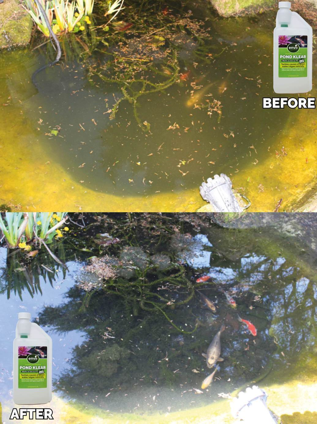 Pond Treatment Pack - Pond Sludge Remover Water Treatment Bacteria Cleaner Clear 3