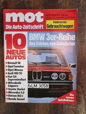 Mot 9/78: BMW 3er, Alfasud Super 1.3, Audi 100 5S, Fiat 131, Mitsubishi Sapporo