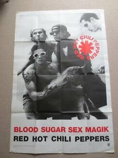RED HOT CHILI PEPPERS Blood Sugar Sex Magik promotional poster Kings Meadows Launceston Area Preview
