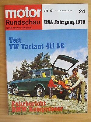 Motor Rundschau 24/69: VW 411 LE, BMW 2002 Kompressor, US Cars