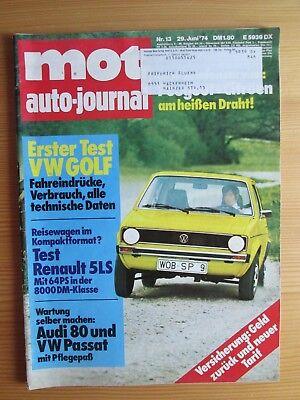 Mot 13/74: VW Golf, Renault 5, Audi 80, VW Passat, Toyota 1000