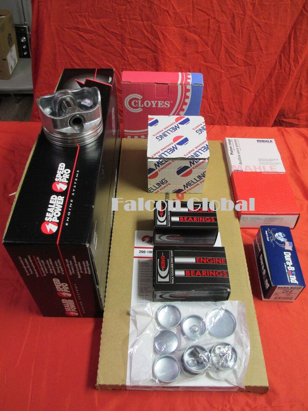 Mercruiser 140hp Chevy 3.0L//181ci Engine Rering Kit Rings+Bearings+Gaskets 1PC
