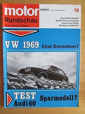 Motor Rundschau 16/68: Audi 60, Alfa Romeo 1300, VW 411, BMW 1800 / 2000